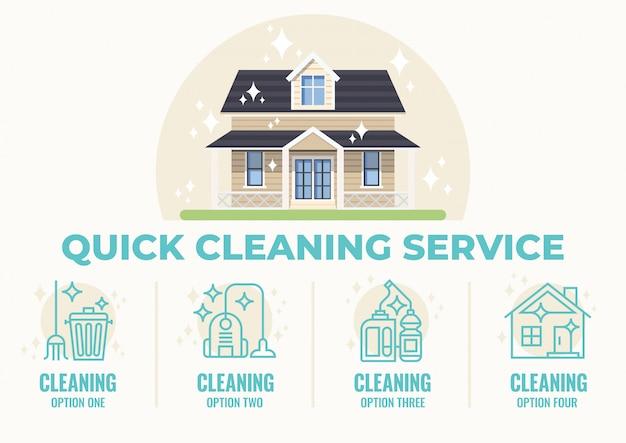 Usługa szybkiego sprzątania Premium Wektorów