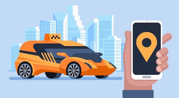 Usługa Zamawiania Taksówek Online Premium Wektorów