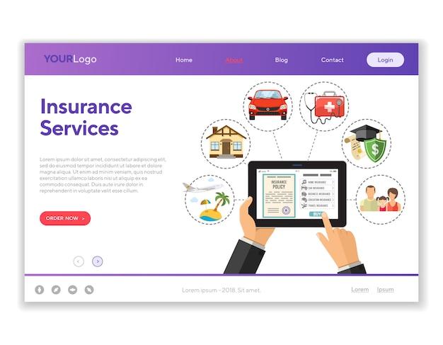 Usługi Ubezpieczeniowe Online Premium Wektorów