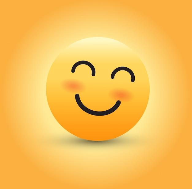 Uśmiechnięte emoji Premium Wektorów