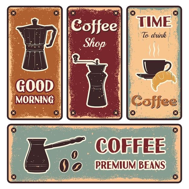 Ustaw Baner Kawy Darmowych Wektorów