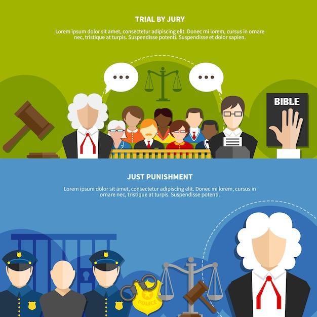 Ustaw Baner Prawa Płaskiego Darmowych Wektorów