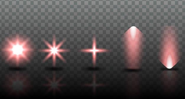 Ustaw Efekt Oświetlenia Kolekcji Darmowych Wektorów