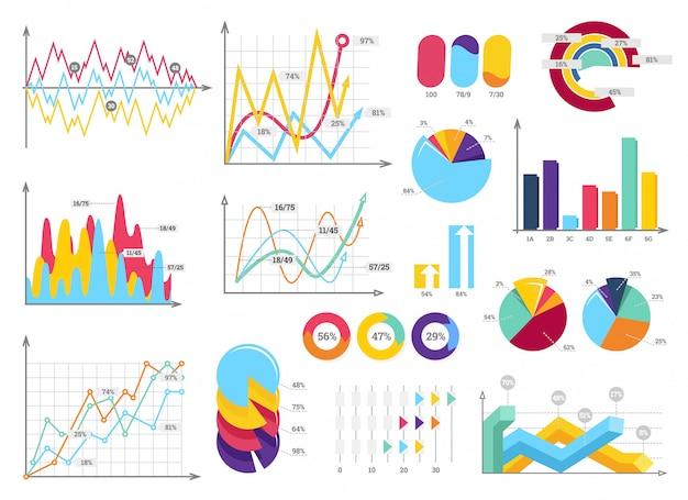 Ustaw elementy infografiki Premium Wektorów