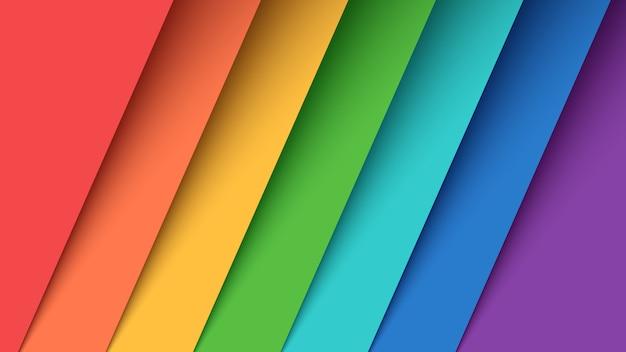 Ustaw siedem kolorów papieru. Premium Wektorów