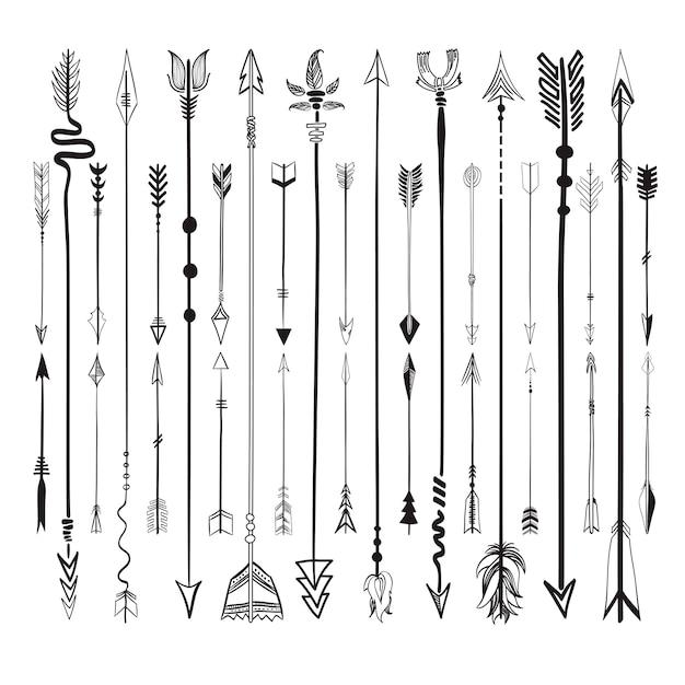 Ustaw zbiór ikon strzałek Darmowych Wektorów