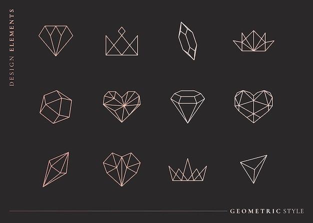 Ustawione Kształty Geometryczne Darmowych Wektorów