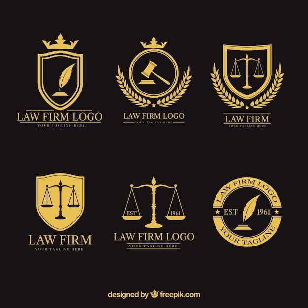 Ustawiony logotyp prawa Darmowych Wektorów