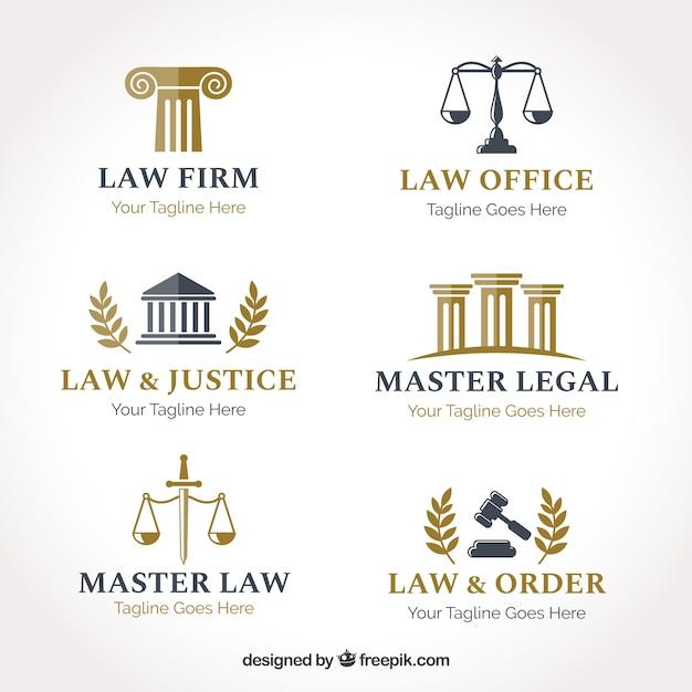 Ustawiony Logotyp Prawa Premium Wektorów