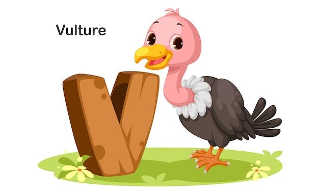 V dla vulture Premium Wektorów