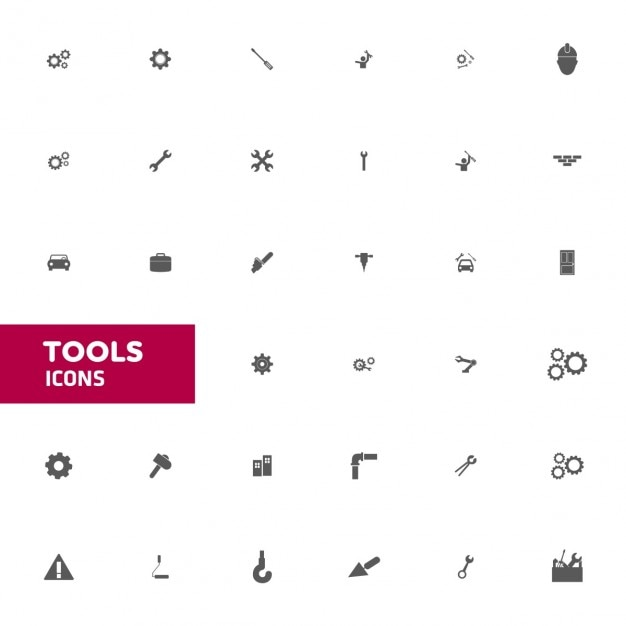 Vector icon set narzędzia Darmowych Wektorów
