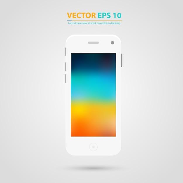 Vector nowoczesne ekrany telefonu komórkowego. Darmowych Wektorów