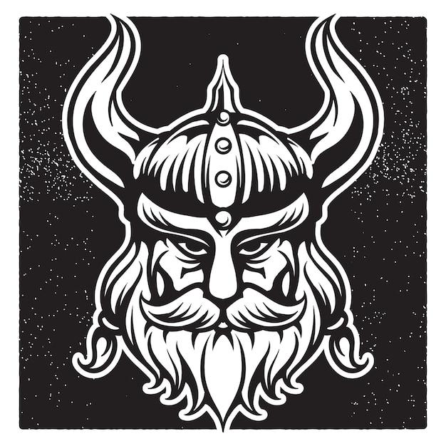 Viking Warrior Vintage Mascot Ilustracji Premium Wektorów