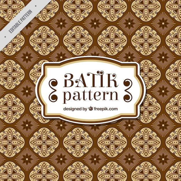Vintage Batik Wzór Darmowych Wektorów