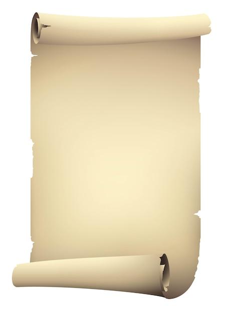 Vintage beżowy papier przewiń transparent Premium Wektorów