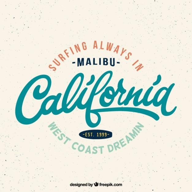 Vintage california kipiel odznaka Darmowych Wektorów