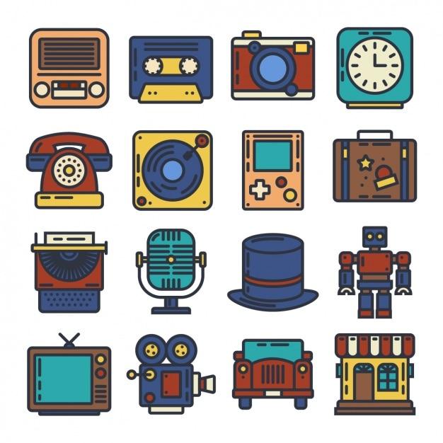 Vintage Elementy Projektowania Darmowych Wektorów