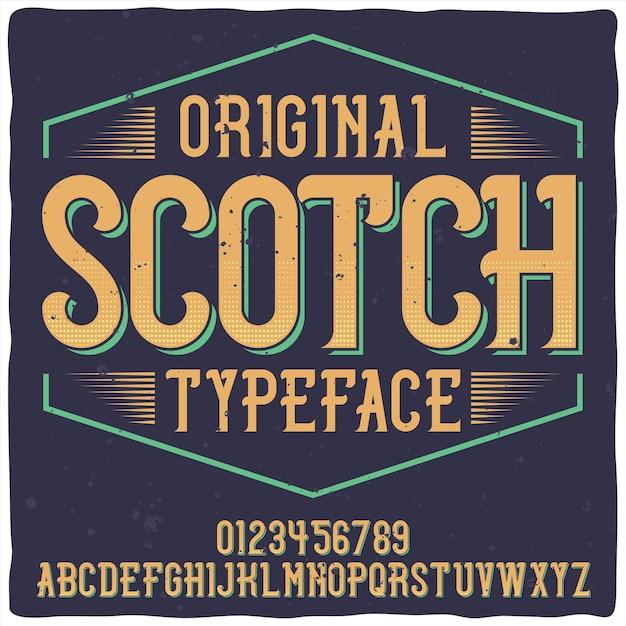 Vintage Etykieta O Nazwie Whiskey. Dobra, Ręcznie Wykonana Czcionka. Darmowych Wektorów