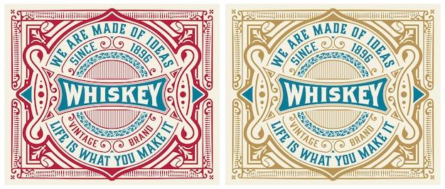 Vintage Etykiety Na Whisky Lub Inne Produkty. Premium Wektorów