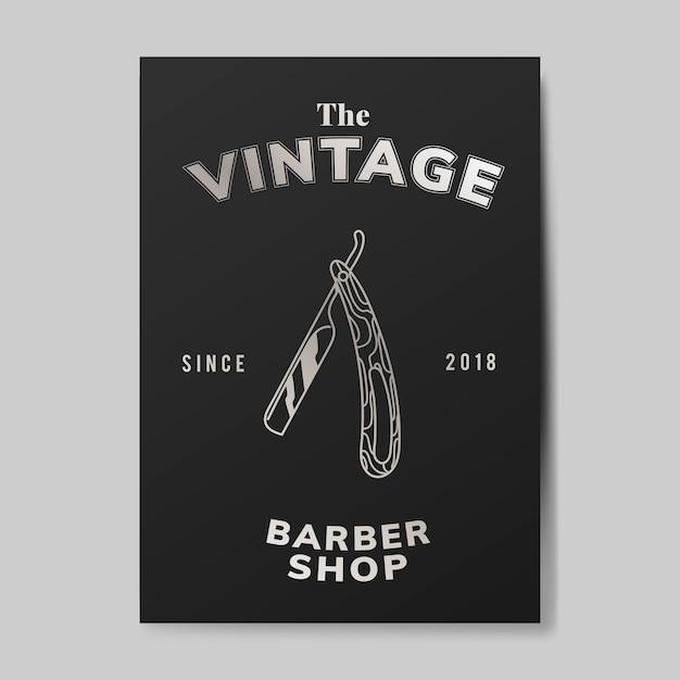 Vintage fryzjer sklep ilustracja Darmowych Wektorów
