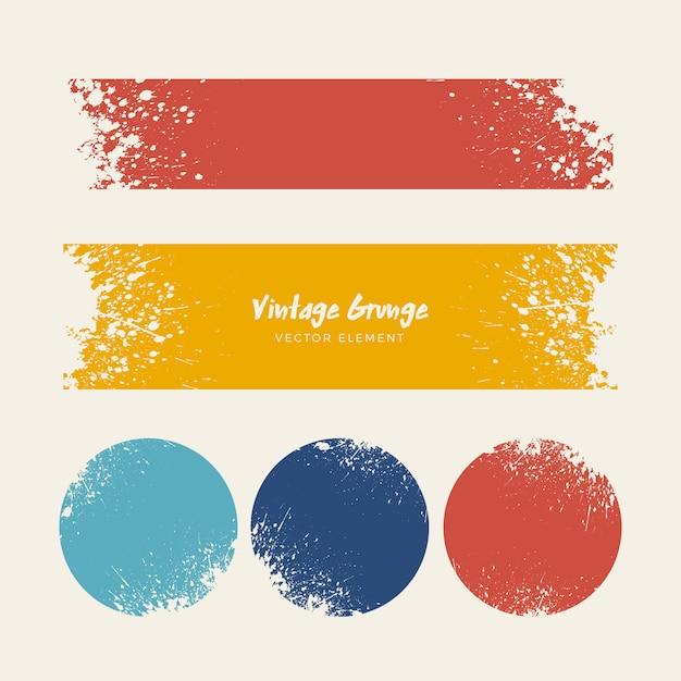 Vintage grunge distressed tła collection Darmowych Wektorów
