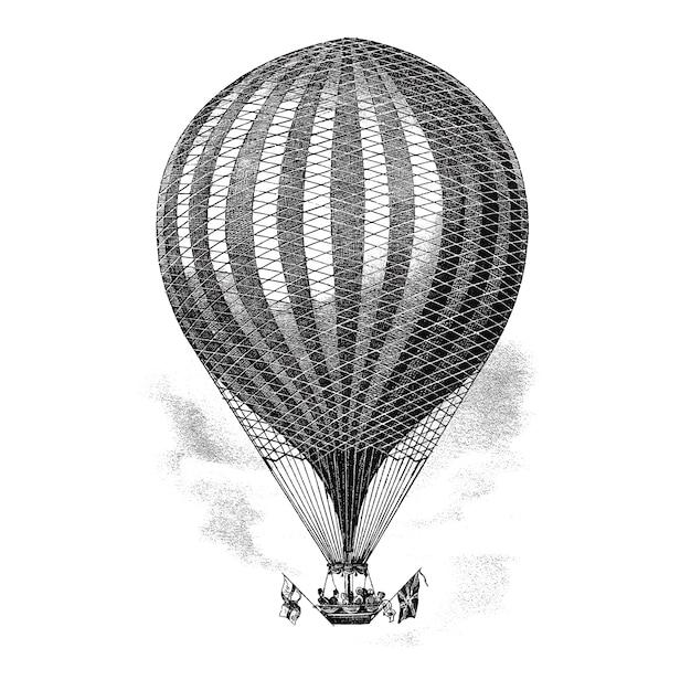 Vintage ilustracji balon Darmowych Wektorów