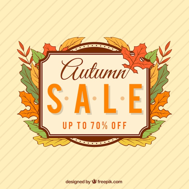 Vintage Jesienią Sprzedaży Tle Darmowych Wektorów