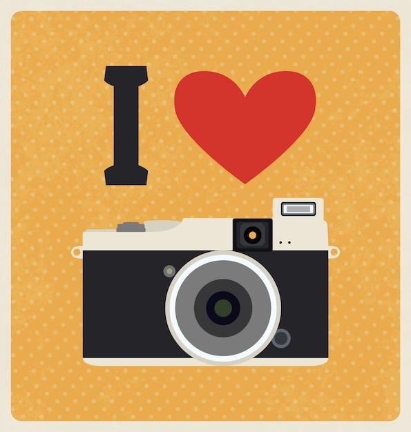Vintage Kamery Wzór Tła Darmowych Wektorów