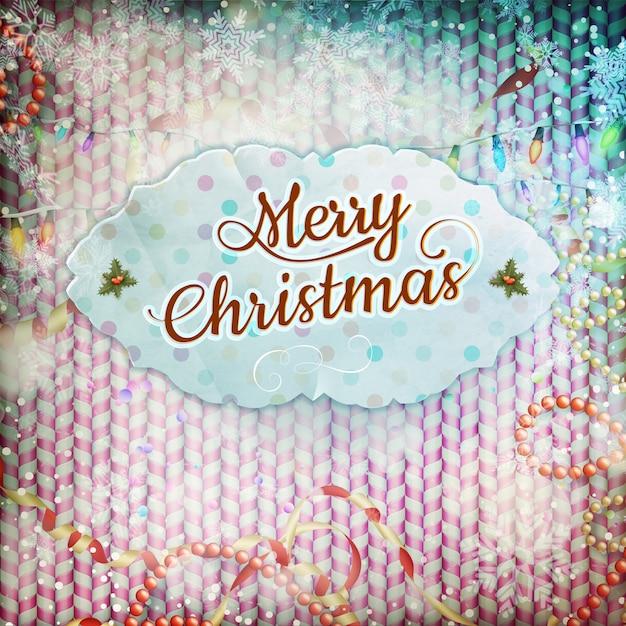 Vintage Kartki świąteczne. Premium Wektorów