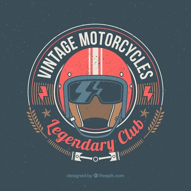 Vintage Klub Motocyklowy Premium Wektorów