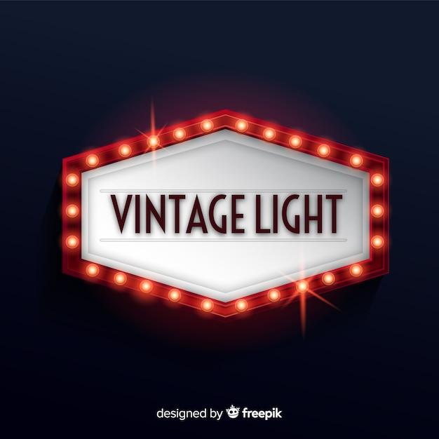 Vintage light billboard Darmowych Wektorów