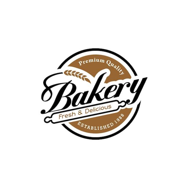 Vintage Logo Piekarni Premium Wektorów