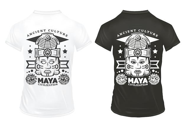 Vintage Maya Civilization Drukuje Szablon Darmowych Wektorów