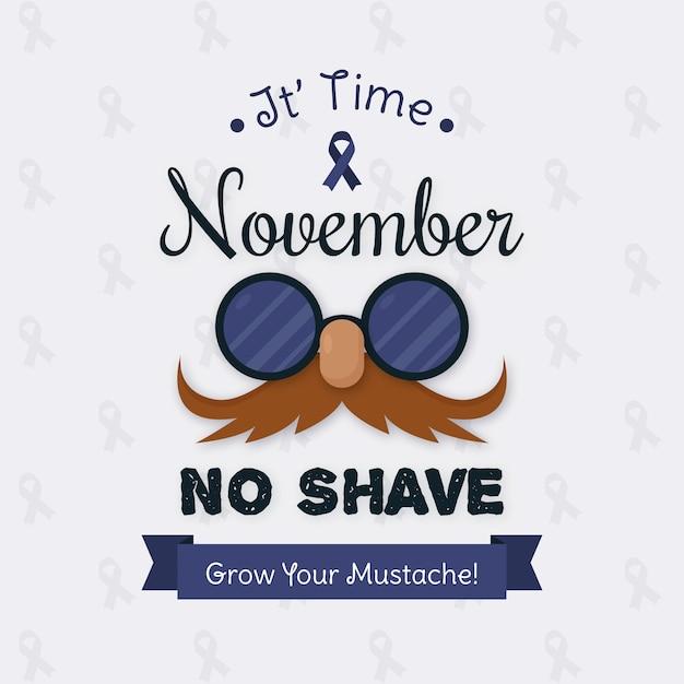Vintage Movember Wyhoduj Swoje Wąsy Darmowych Wektorów