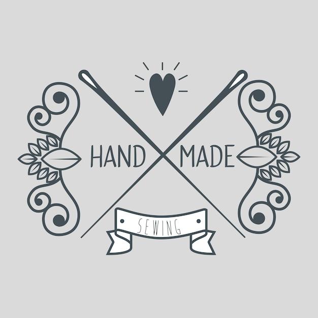 Vintage ręcznie wykonane logotypy i etykiety Premium Wektorów