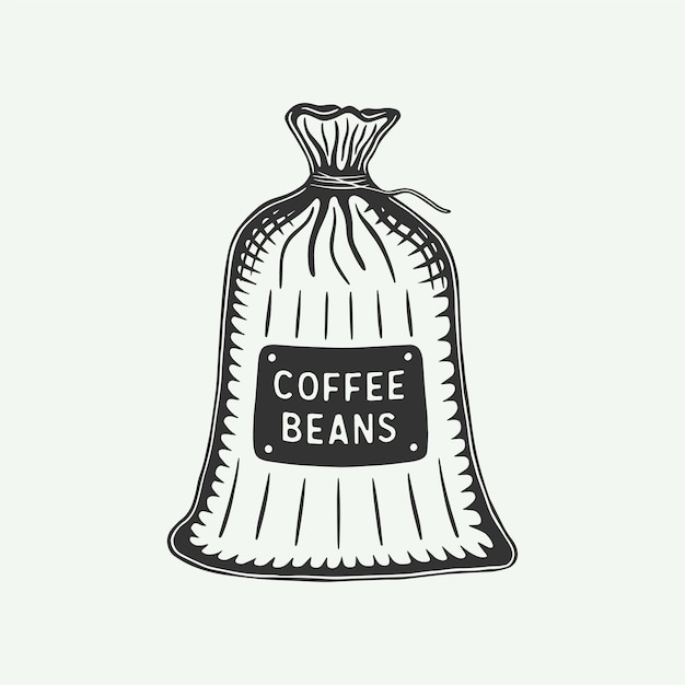 Vintage Retro Opakowanie Na Kawę Może Służyć Jako Etykieta Premium Wektorów