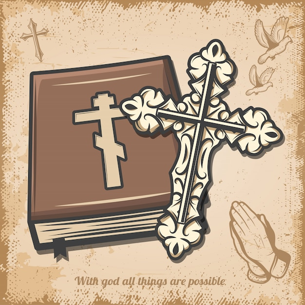 Vintage Szablon Religijny Darmowych Wektorów