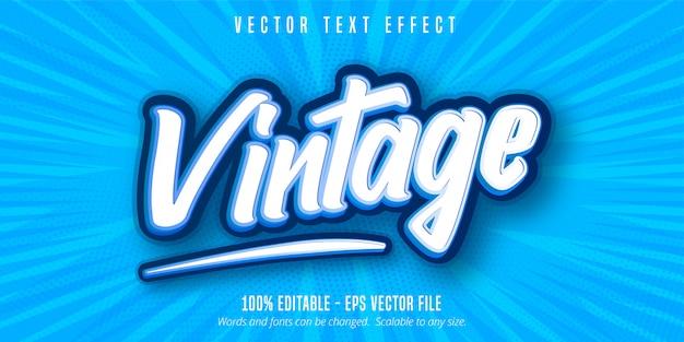 Vintage Tekst, Edytowalny Efekt Tekstowy W Stylu Pop-art Premium Wektorów