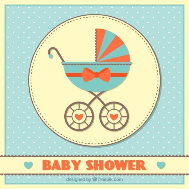 Vintage tle baby shower Darmowych Wektorów