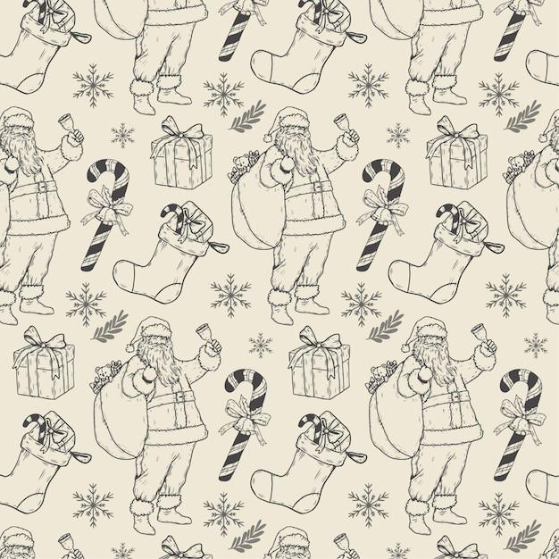 Vintage Wzór Boże Narodzenie Darmowych Wektorów