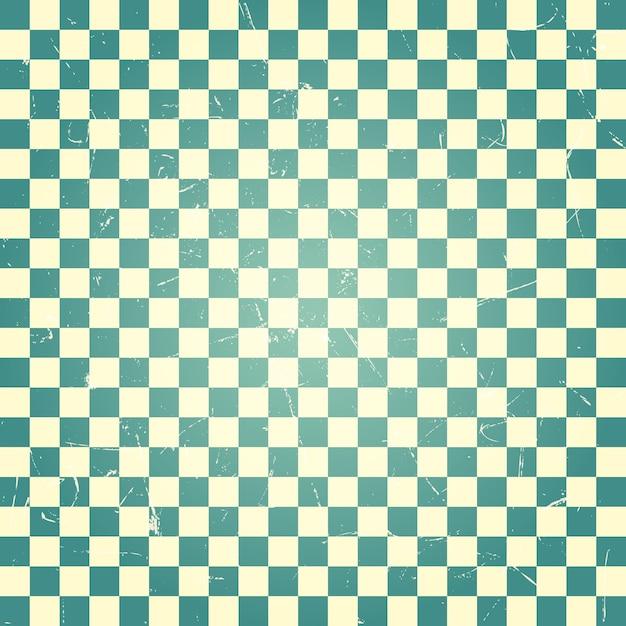 Vintage zielony wzór szachownicy Premium Wektorów
