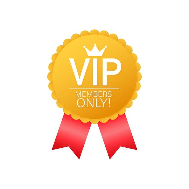 Vip, Tylko Dla Członków Złota Etykieta Premium Wektorów