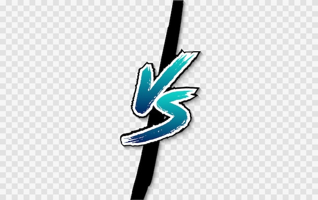Vs. Logo Kontra List. Bitwa Kontra Mecz, Gra Premium Wektorów