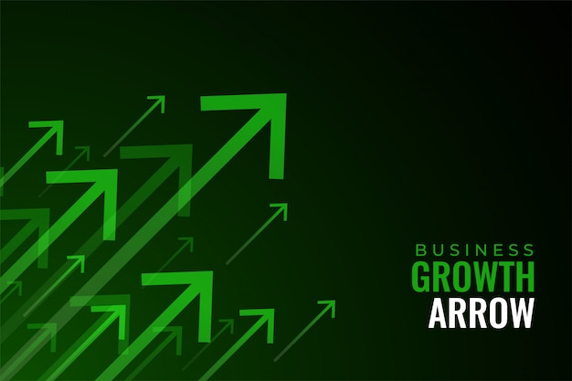 W Górę Zielone Strzałki Wzrostu Sprzedaży Biznesu Darmowych Wektorów