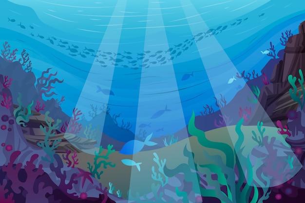 W Morzu - Tło Do Wideokonferencji Darmowych Wektorów