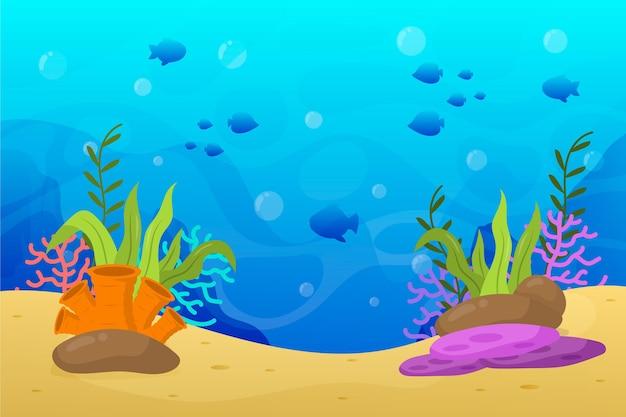 W Projekcie Tła Morza Premium Wektorów