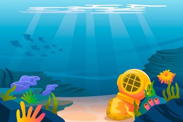 W Tle Morza Darmowych Wektorów