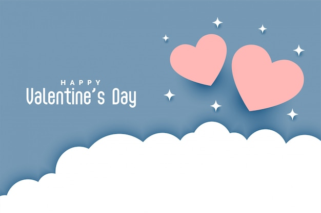 Walentynki Kartkę Z życzeniami W Stylu Cięcia Papieru Darmowych Wektorów