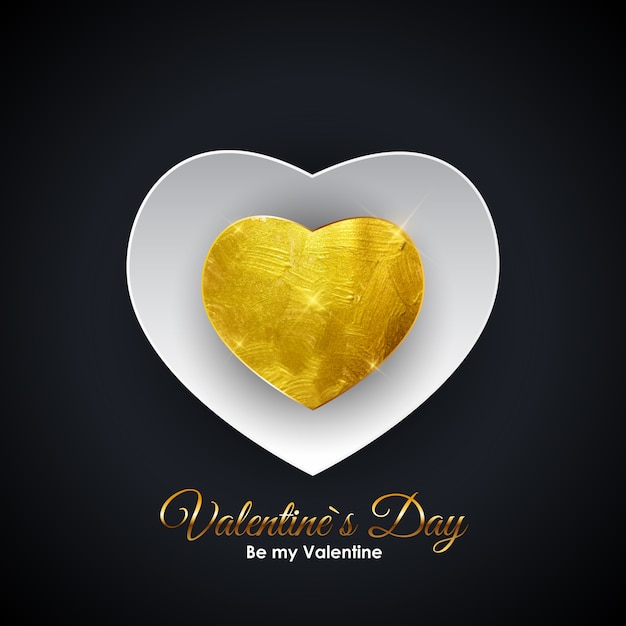Walentynki On Symbol. Desig Tło Miłości I Uczuć Premium Wektorów