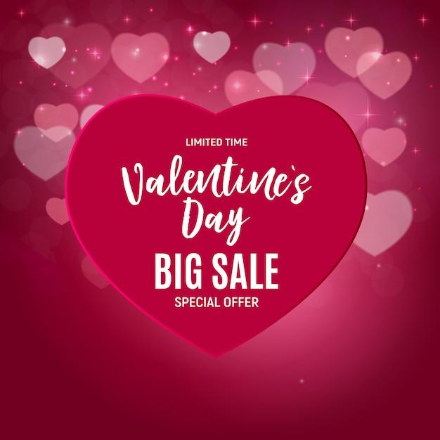 Walentynki sprzedaż miłości i uczuć. Premium Wektorów